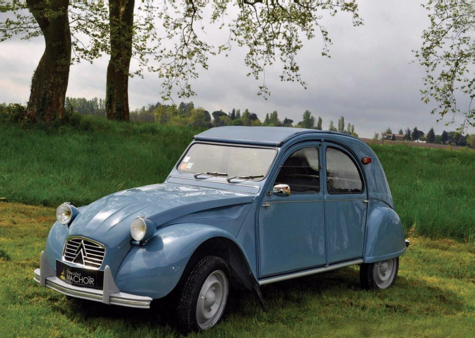 photo citroen 2 cv type aza cabriolet 1963