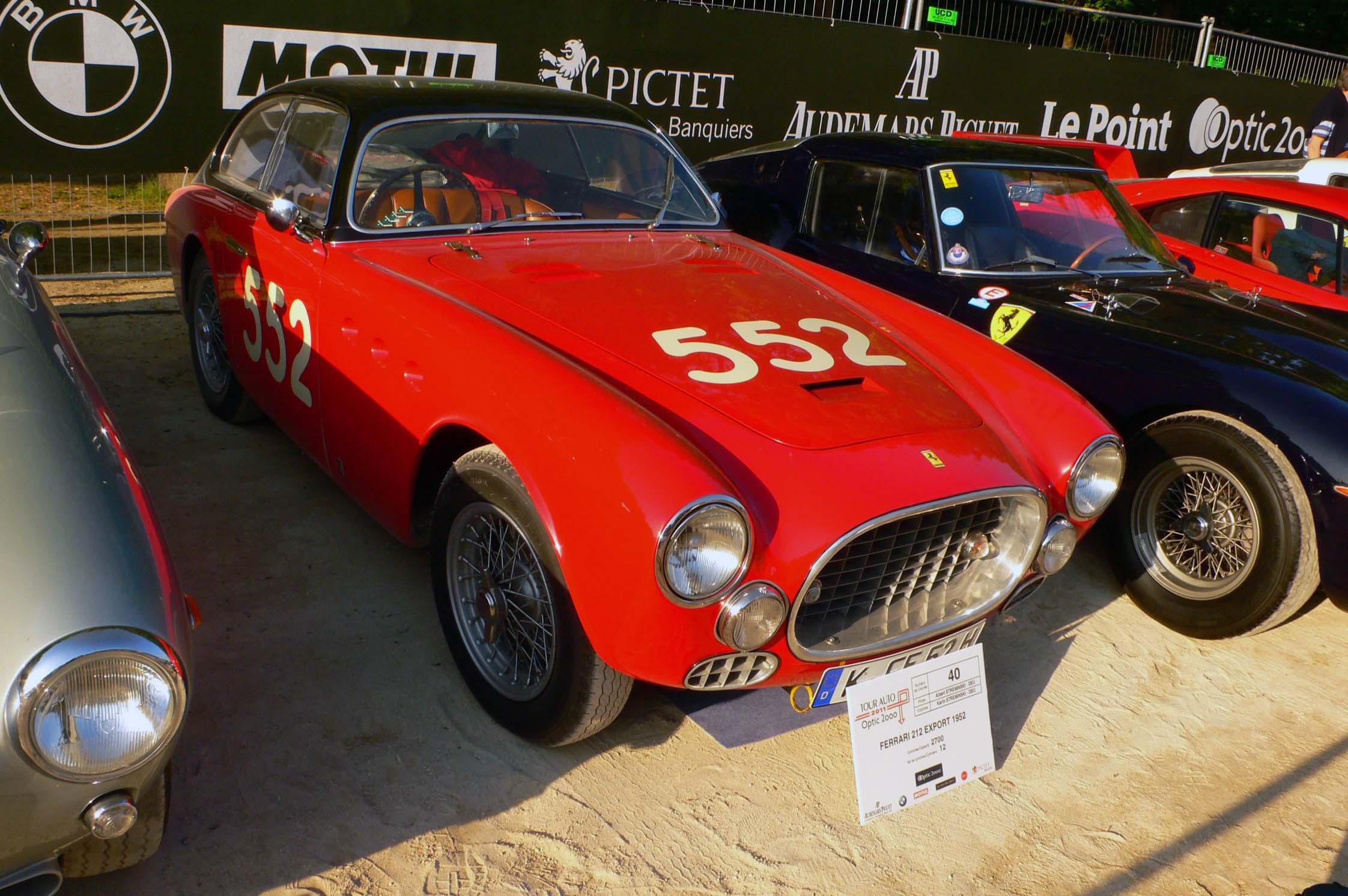 Photo FERRARI 212 Export coupé 1952 - médiatheque Motorlegend.com