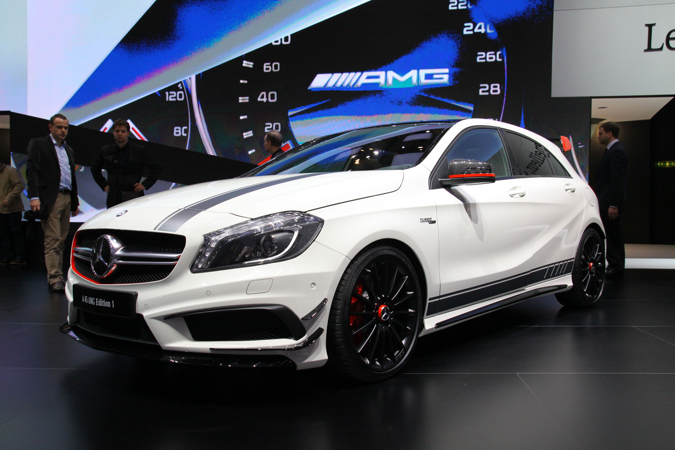 photo mercedes classe a w176 45 amg 360 ch salon de gen ve 2013 m diatheque. Black Bedroom Furniture Sets. Home Design Ideas
