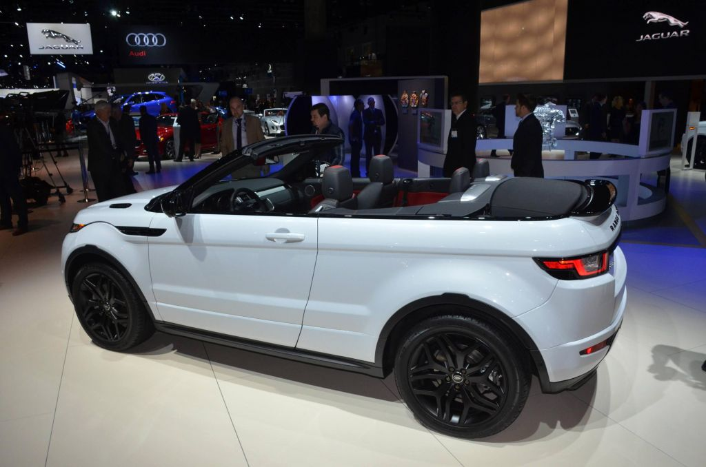 land rover evoque cabriolet salon de los angeles 2015 diaporama photo. Black Bedroom Furniture Sets. Home Design Ideas
