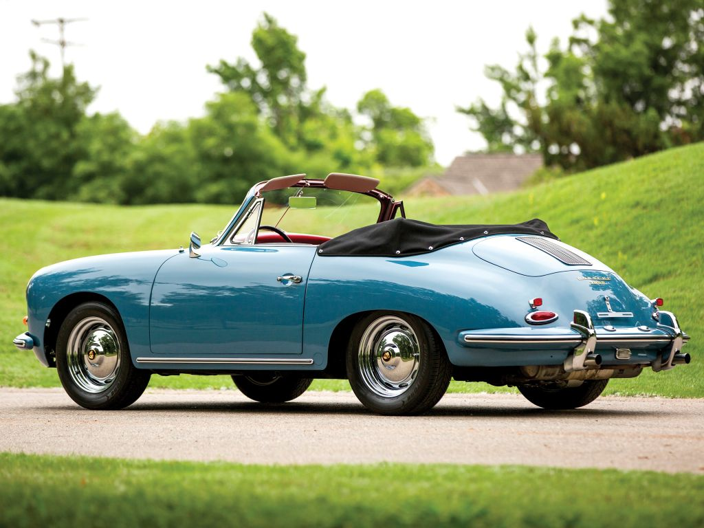 photo porsche 356 b 1600 cabriolet 1960 m diatheque. Black Bedroom Furniture Sets. Home Design Ideas